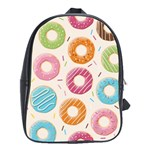 Colored Doughnuts Pattern School Bag (Large)
