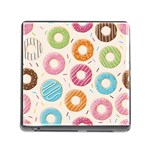 Colored Doughnuts Pattern Memory Card Reader (Square)
