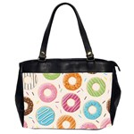 Colored Doughnuts Pattern Office Handbags (2 Sides)