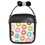 Colored Doughnuts Pattern Girls Sling Bags