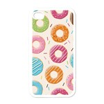 Colored Doughnuts Pattern Apple iPhone 4 Case (White)