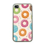 Colored Doughnuts Pattern Apple iPhone 4 Case (Clear)