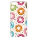 Colored Doughnuts Pattern Apple iPhone 5 Seamless Case (White)