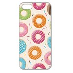 Colored Doughnuts Pattern Apple Seamless iPhone 5 Case (Clear)