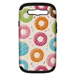 Colored Doughnuts Pattern Samsung Galaxy S III Hardshell Case (PC+Silicone)