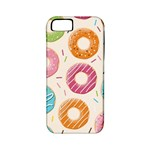 Colored Doughnuts Pattern Apple iPhone 5 Classic Hardshell Case (PC+Silicone)