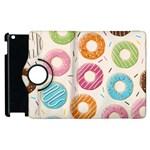 Colored Doughnuts Pattern Apple iPad 3/4 Flip 360 Case