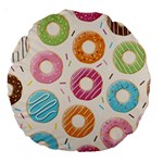 Colored Doughnuts Pattern Large 18  Premium Round Cushions