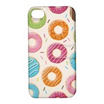 Colored Doughnuts Pattern Apple iPhone 4/4S Hardshell Case with Stand