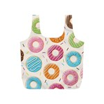 Colored Doughnuts Pattern Full Print Recycle Bags (S)