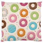 Colored Doughnuts Pattern Large Flano Cushion Case (One Side)