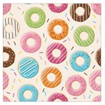 Colored Doughnuts Pattern Large Satin Scarf (Square)