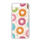 Colored Doughnuts Pattern Apple iPhone 7 Plus Seamless Case (White)
