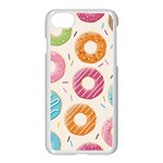Colored Doughnuts Pattern Apple iPhone 7 Seamless Case (White)