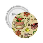 Colored Afternoon Tea Pattern 2.25  Buttons