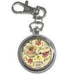 Colored Afternoon Tea Pattern Key Chain Watches