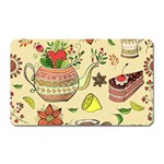 Colored Afternoon Tea Pattern Magnet (Rectangular)