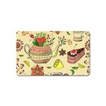 Colored Afternoon Tea Pattern Magnet (Name Card)
