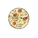 Colored Afternoon Tea Pattern Hat Clip Ball Marker