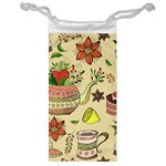 Colored Afternoon Tea Pattern Jewelry Bag