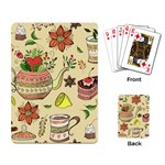 Colored Afternoon Tea Pattern Playing Card