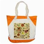 Colored Afternoon Tea Pattern Accent Tote Bag