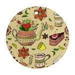 Colored Afternoon Tea Pattern Round Ornament (Two Sides)