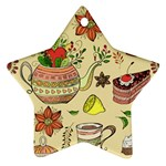 Colored Afternoon Tea Pattern Star Ornament (Two Sides)