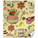 Colored Afternoon Tea Pattern Canvas 8  x 10