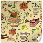 Colored Afternoon Tea Pattern Canvas 12  x 12