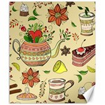 Colored Afternoon Tea Pattern Canvas 20  x 24