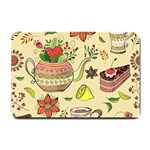 Colored Afternoon Tea Pattern Small Doormat