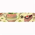 Colored Afternoon Tea Pattern Large Bar Mats