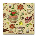 Colored Afternoon Tea Pattern Face Towel
