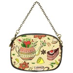 Colored Afternoon Tea Pattern Chain Purses (One Side)