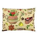 Colored Afternoon Tea Pattern Pillow Case