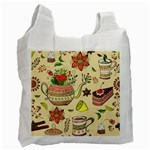 Colored Afternoon Tea Pattern Recycle Bag (One Side)