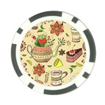 Colored Afternoon Tea Pattern Poker Chip Card Guard (10 pack)