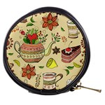 Colored Afternoon Tea Pattern Mini Makeup Bags