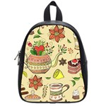 Colored Afternoon Tea Pattern School Bag (Small)