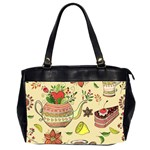 Colored Afternoon Tea Pattern Office Handbags (2 Sides)