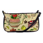 Colored Afternoon Tea Pattern Shoulder Clutch Bags
