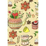 Colored Afternoon Tea Pattern 5.5  x 8.5  Notebooks