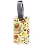 Colored Afternoon Tea Pattern Luggage Tags (One Side)