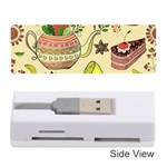 Colored Afternoon Tea Pattern Memory Card Reader (Stick)