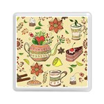Colored Afternoon Tea Pattern Memory Card Reader (Square)
