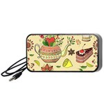 Colored Afternoon Tea Pattern Portable Speaker
