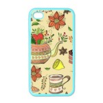 Colored Afternoon Tea Pattern Apple iPhone 4 Case (Color)