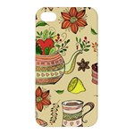 Colored Afternoon Tea Pattern Apple iPhone 4/4S Hardshell Case