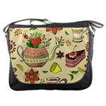 Colored Afternoon Tea Pattern Messenger Bags